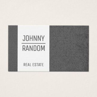 Gray concrete with white stripe business card