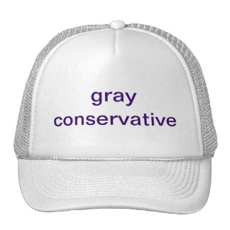 gray conservative trucker hats