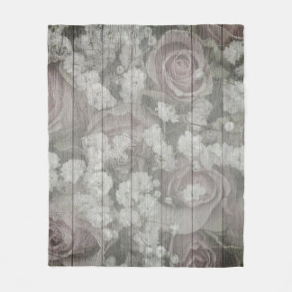 Gray Country chic design Fleece Blanket