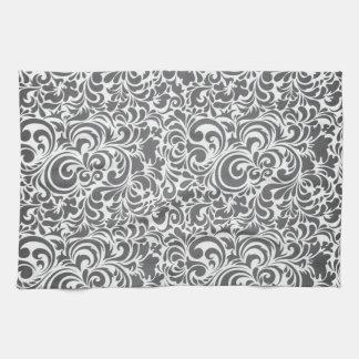 GRAY-CREAM-SWIRLS TOWELS