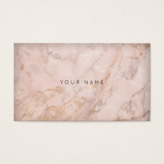 Gray Creamy Pink Sepia Gold Gray Marble Business Card