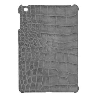 Gray crocodile case for the iPad mini