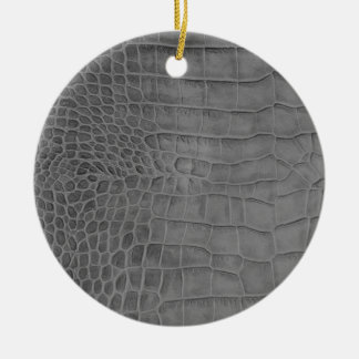 Gray crocodile ceramic ornament