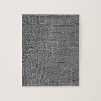 Gray crocodile jigsaw puzzle