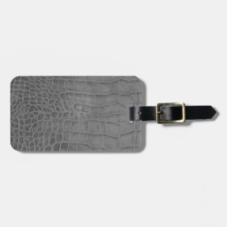 Gray crocodile luggage tag