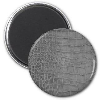Gray crocodile magnet