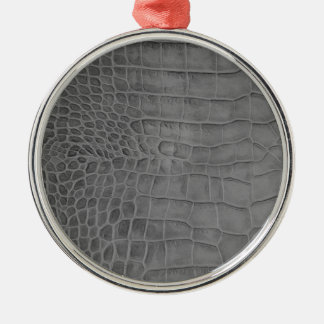 Gray crocodile metal ornament