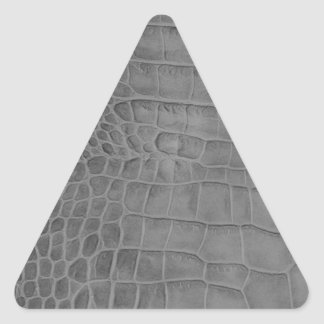Gray crocodile triangle sticker