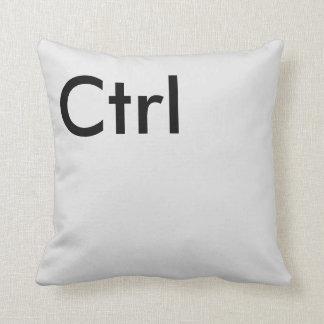 Gray Ctrl Key Keyboard Geek Computer Design Throw Pillow