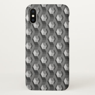 Gray Cube Pattern Isometric iPhone X Case