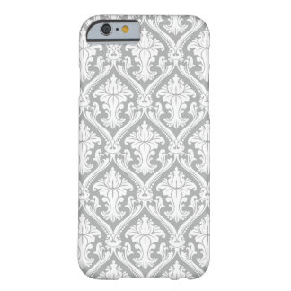 Gray Damask pattern iPhone 6 barely there case