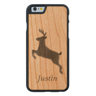 Gray Deer Personalized Carved® Cherry iPhone 6 Case