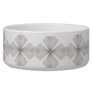 Gray Diamond Floer Pet Bowl