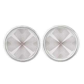 Gray Diamond Flower Cufflinks