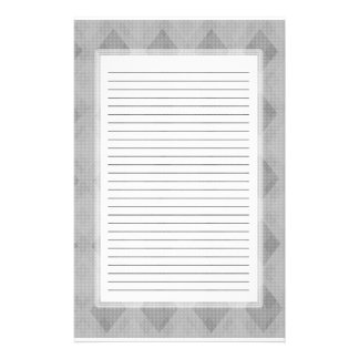 Gray Diamond Lined Stationery