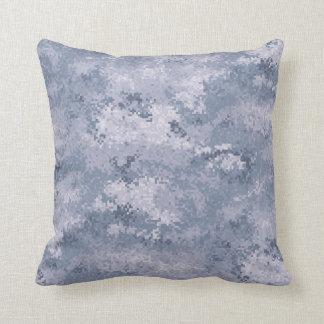 Gray Digi Camo Throw Pillow