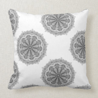 Gray Digital Art Abstract Design Throw Pillow