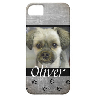 Gray Dog Photo Personalized Cell Phone Case