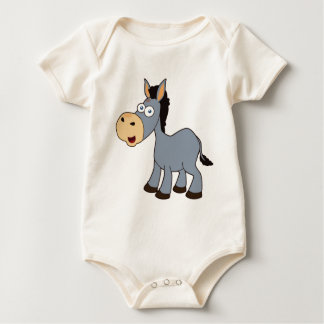 gray donkey baby bodysuit