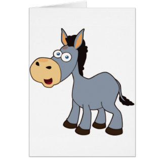 gray donkey card
