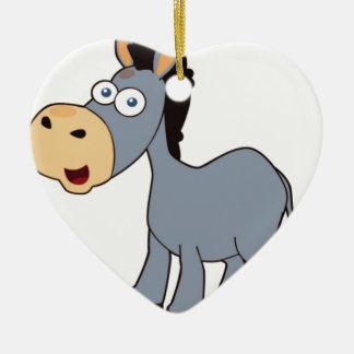 gray donkey ceramic ornament