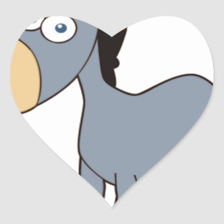 gray donkey heart sticker
