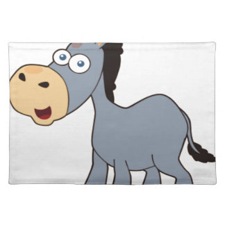 gray donkey placemat
