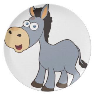 gray donkey plate