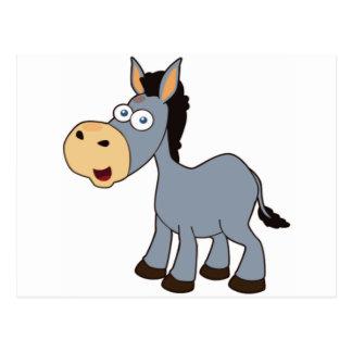 gray donkey postcard
