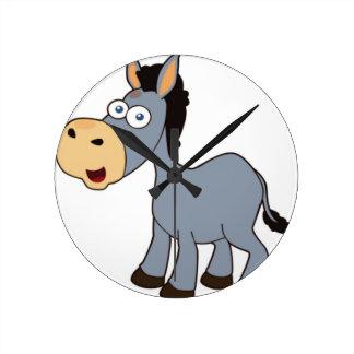 gray donkey wallclock