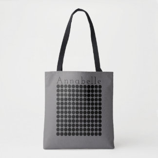 Gray Dot Chique Tote Bag