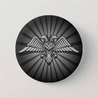 Gray eagle with two heads 2 inch round button