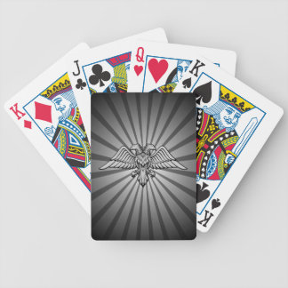 Gray eagle with two heads bicycle playing cards