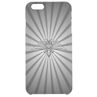 Gray eagle with two heads clear iPhone 6 plus case