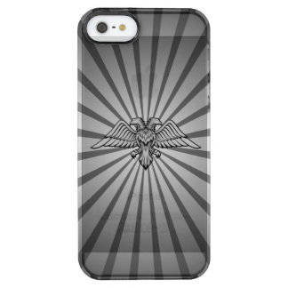 Gray eagle with two heads clear iPhone SE/5/5s case