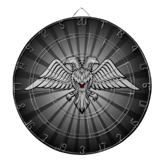 Gray eagle with two heads dart board