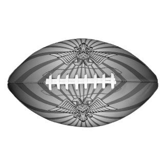 Gray eagle with two heads football