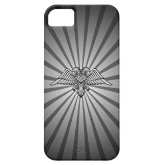 Gray eagle with two heads iPhone 5 case