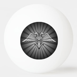 Gray eagle with two heads Ping-Pong ball