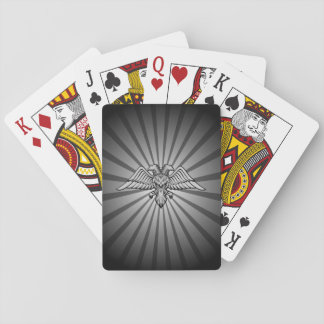 Gray eagle with two heads poker deck