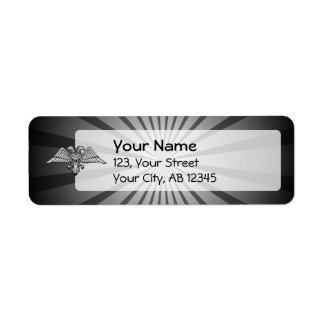 Gray eagle with two heads return address label
