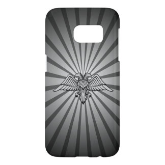 Gray eagle with two heads samsung galaxy s7 case