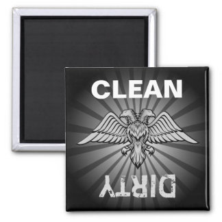 Gray eagle with two heads square magnet