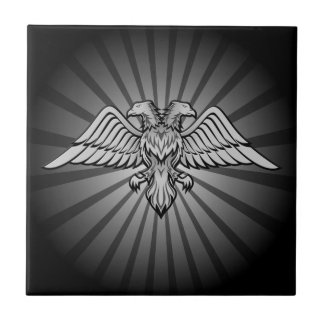 Gray eagle with two heads tiles