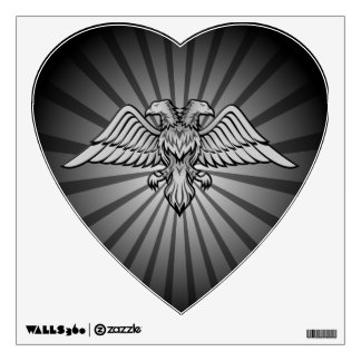 Gray eagle with two heads wall sticker