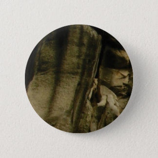 gray edge of rock face 2 inch round button