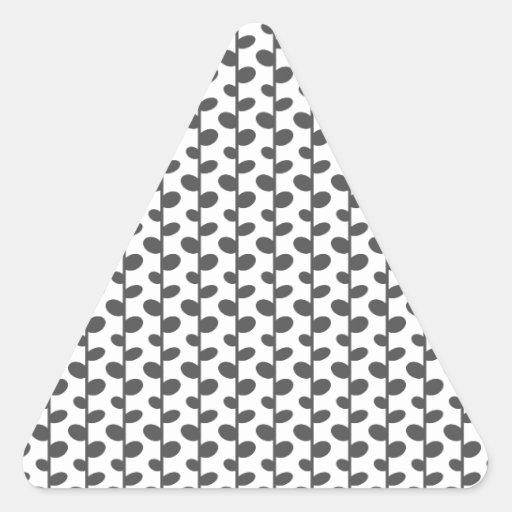 Gray Elegant Modern Chic Leaf Pattern Stickers