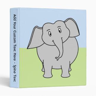 Gray Elephant 3 Ring Binder