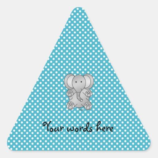Gray elephant blue polka dots sticker