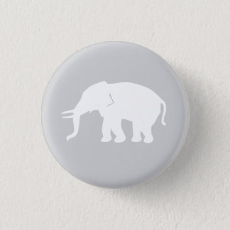 Gray Elephant Button